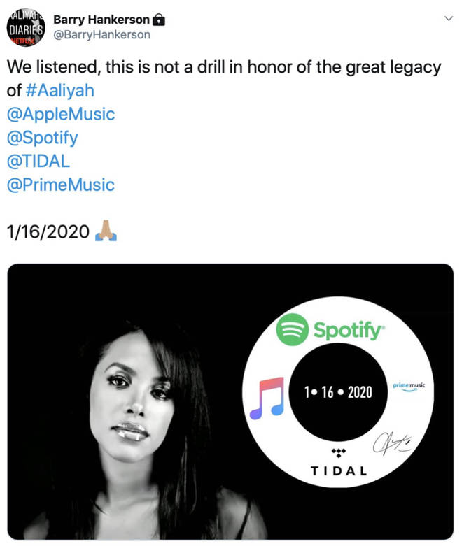 Barry Hankerson teases Aaliyah's music will be coming to streaming services in 2020