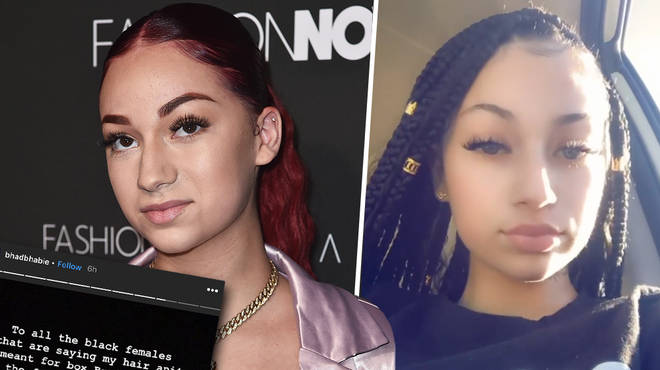 "Bhad Bhabie slams ""black women"" who criticised her for getting a braided hairstyle"
