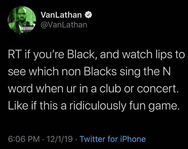 Van Nathan posts a screenshot of his tweet explaining his game