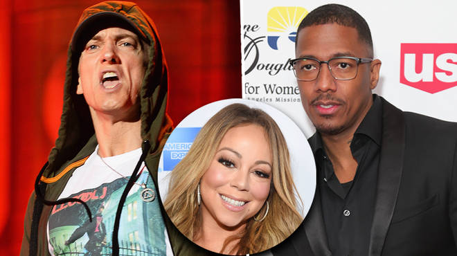 "Eminem has thrown shots at Nick Cannon on ""Lord Above"""