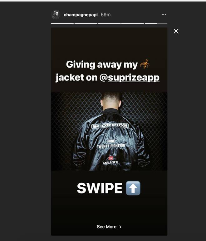 Drake Instagram Story Drake Jacket