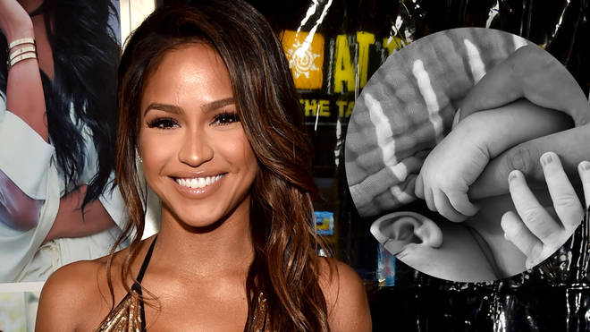 Cassie has shared the first photo of her daughter Frankie Stone with husband Alex Fine.