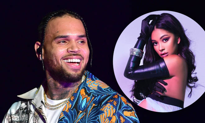 Chris Brown has shared the first photo of Ammika Harris while she was pregnant.