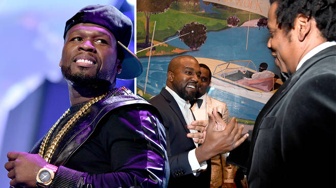 50 Cent trolls Jay-Z and Kanye West's reunion photo on Instagram