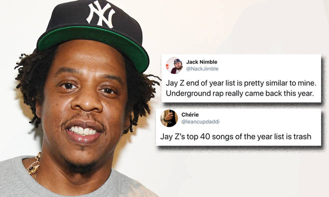 Jay Z reveals top 40 list