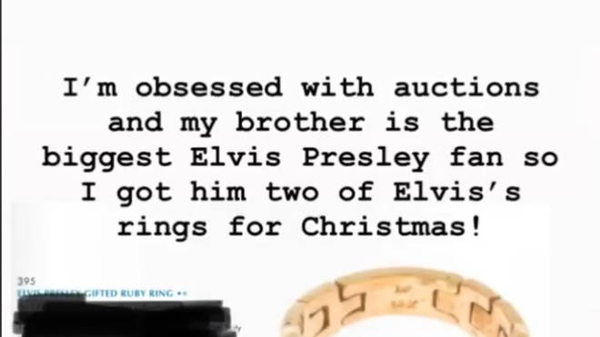 Kim Kardashian bought her brother Rob Elvis Presley's rings for Christmas