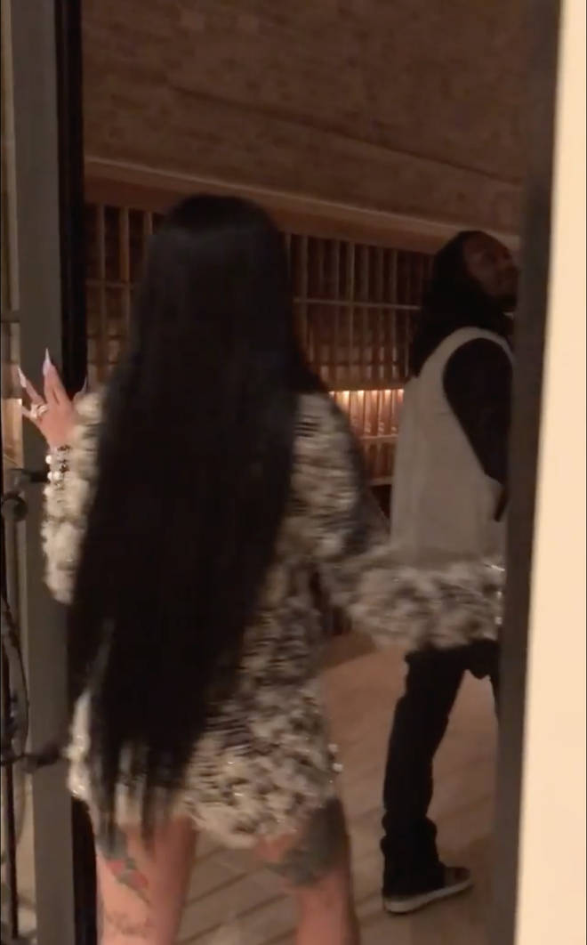 Cardi B and Offset explore their Wine Cellar, located downstairs