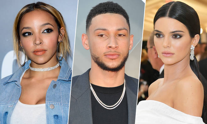 Tinashe, Ben Simmons and Kendall Jenner.