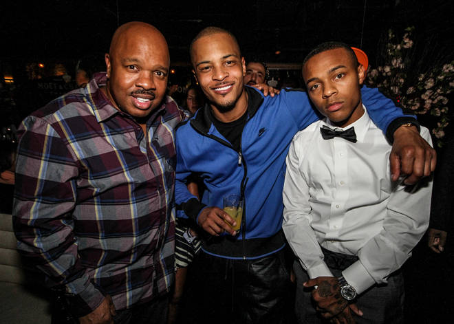Fans are convinced T.I. (centre) and Bow Wow (right) share a likeness.