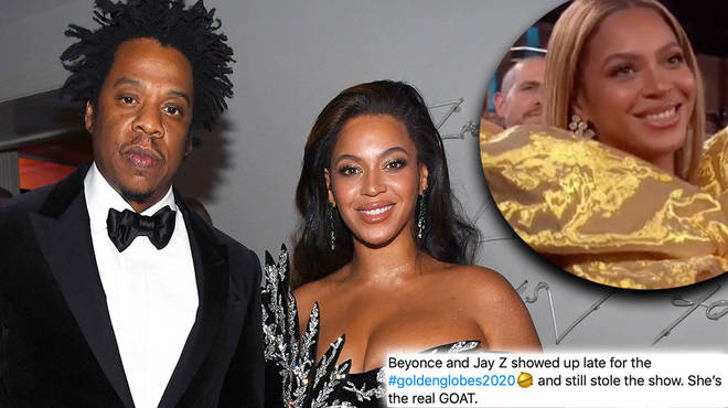 Bey and Jay arriving late with champagne to the Golden Globes is a moment !