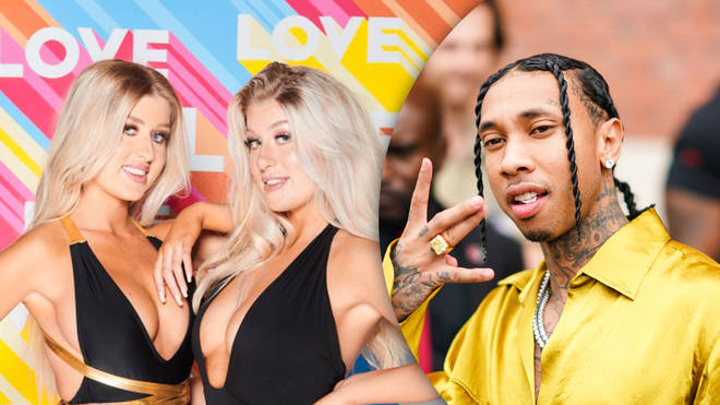 Love Island Winter twins Eve and Jess Gale have been linked to rapper Tyga, who previously dated Kylie Jenner.