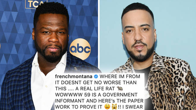 "French Montana exposes 50 Cent as a ""snitch"" with legal paperwork"