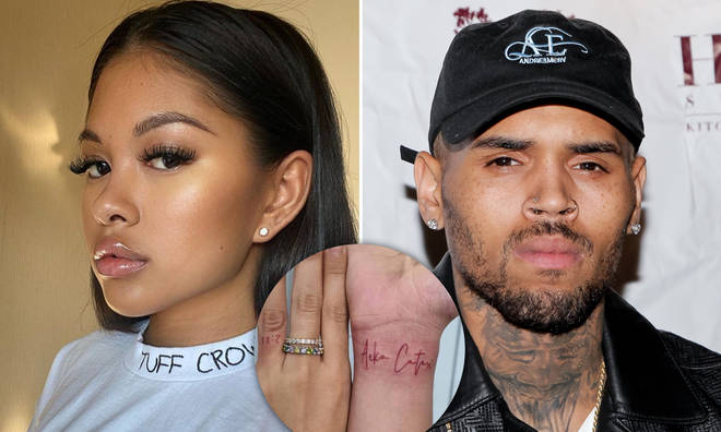 Ammika Harris dedicated two new hand tattoos to her son with Chris Brown, Aeko Catori.