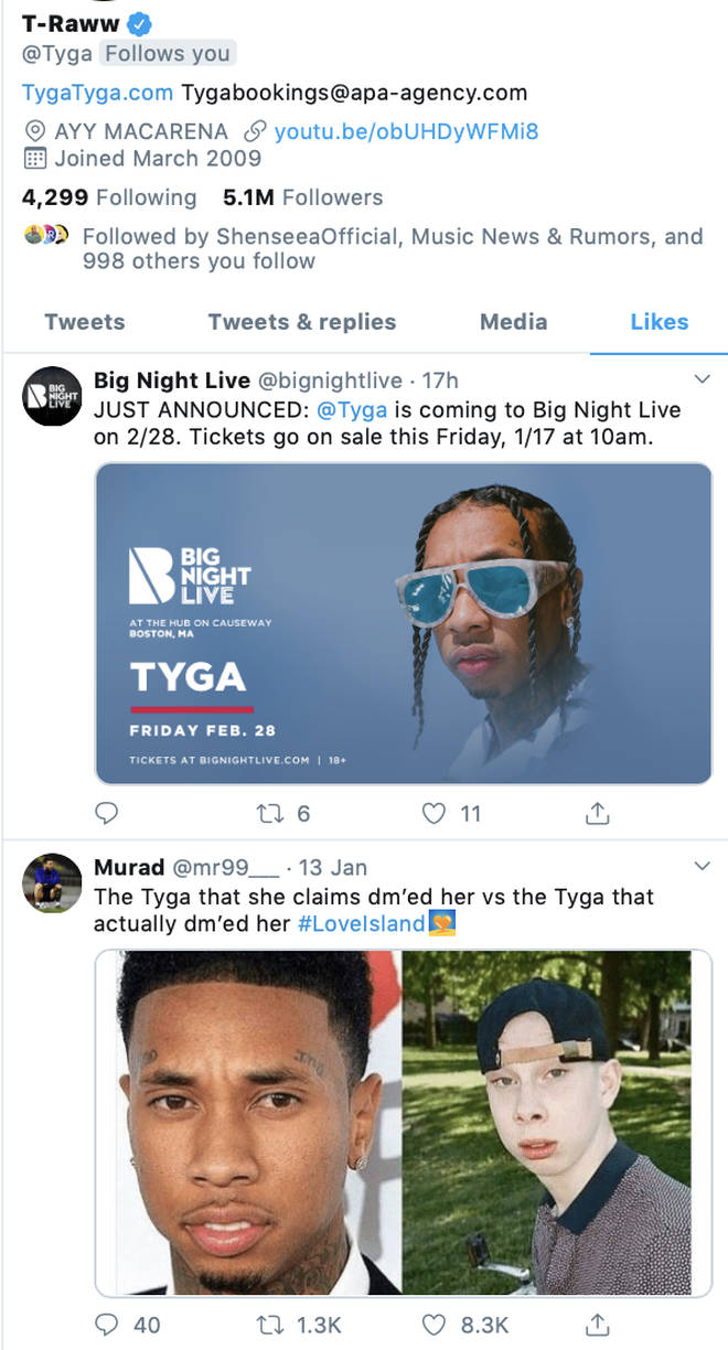 Tyga also liked a meme mocking Eve's claims on Twitter