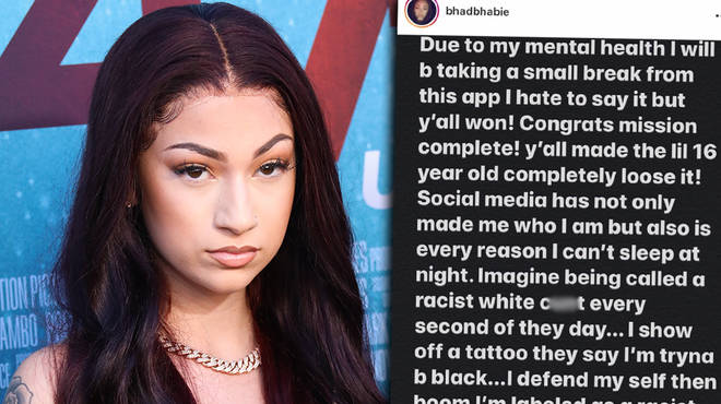 Bhad Bhabie issues statement on why she's quitting social media