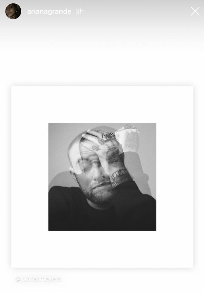 Ariana Grande, who dated Mac Miller from 2016 to 2018, posted the late rapper's 'Circles' album cover on her Instagram story.