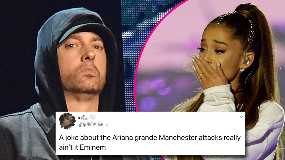 "Eminem angers Ariana Grande fans with shock ""bomb"" lyric about Manchester attack"