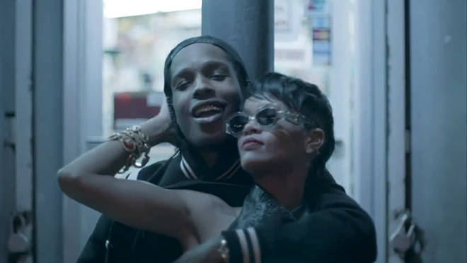 Rihanna got cosy with A$AP Rocky in his music video for 'Fashion Killa' in 2013.