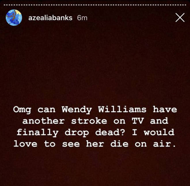 Azealia Banks on Wendy Williams.