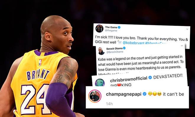 Drake, Chris Brown & more pay tributes to Kobe Bryant