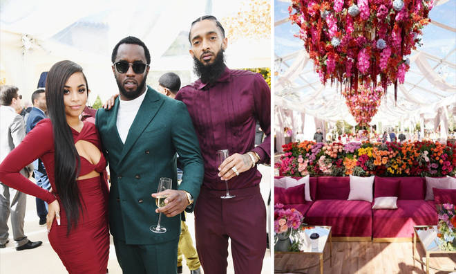 Nipsey Hussle and Lauren London appear to be inspiration for Roc Nation brunch floral theme
