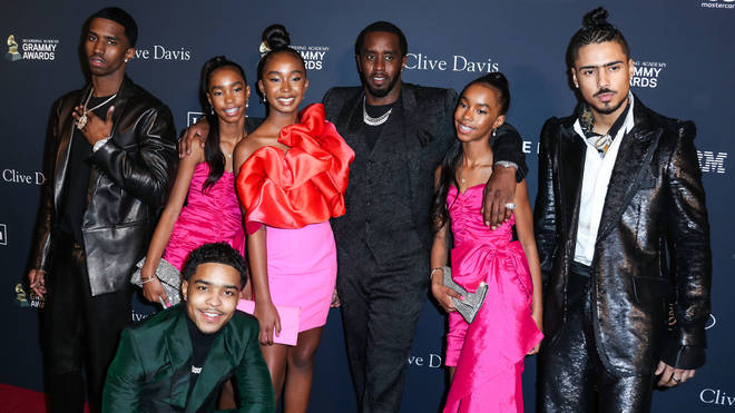 Diddy and his family attended the Clive Davis pre-Grammys party