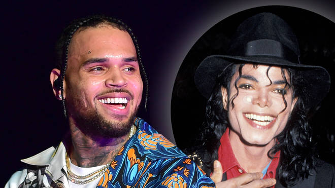 Chris Brown shared a photoshopped oh himself alongside his idol Michael Jackson.