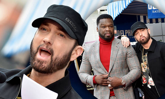 Eminem inducted 50 Cent into the Hollywood Walk Of Fame with a heartfelt speech.