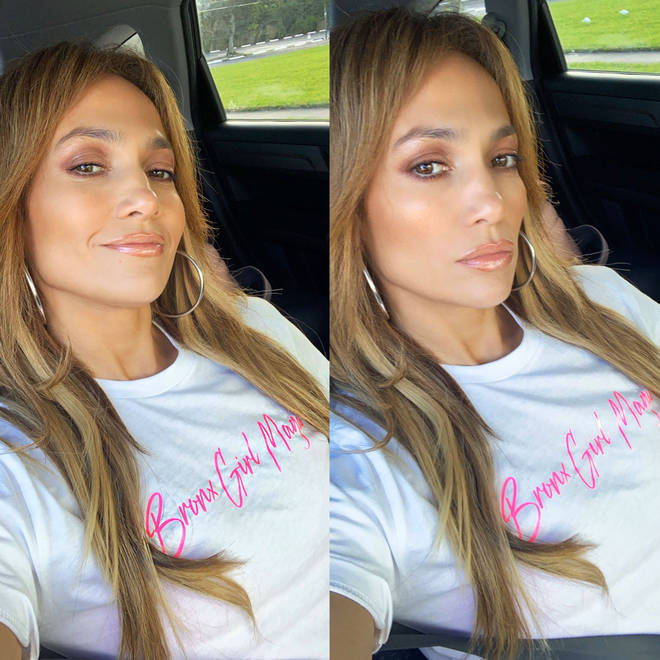 Jennifer, 50, also posted two selfies showing herself rocking a 'Bronx Girl Magic' t-shirt.