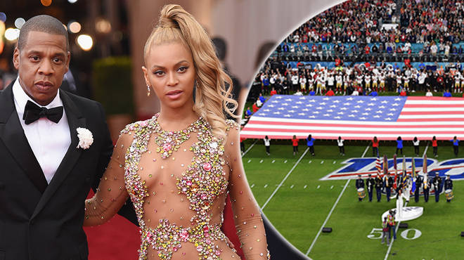Beyoncé & Jay-Z spark controversy after staying seated during the national anthem at the Super Bowll