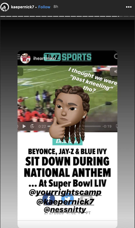 Colin Kaepernick responds to Jay-Z's NFL deal on Instagram