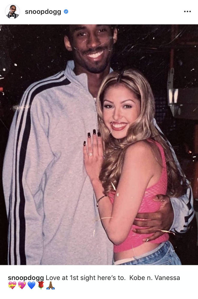 """Love at 1st sight here's to. Kobe n. Vanessa,"" Snoop captioned the photo."