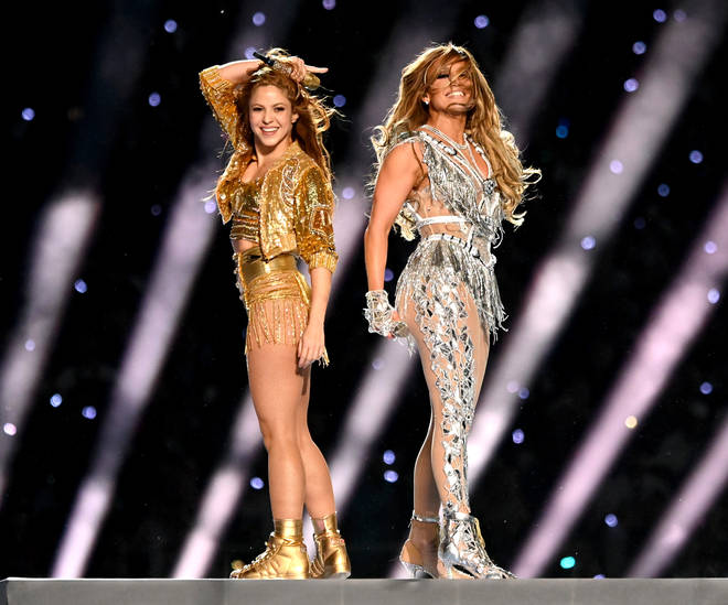 Jennifer Lopez & Shakira perform at the Super Bowl LIV  for the Halftime Show