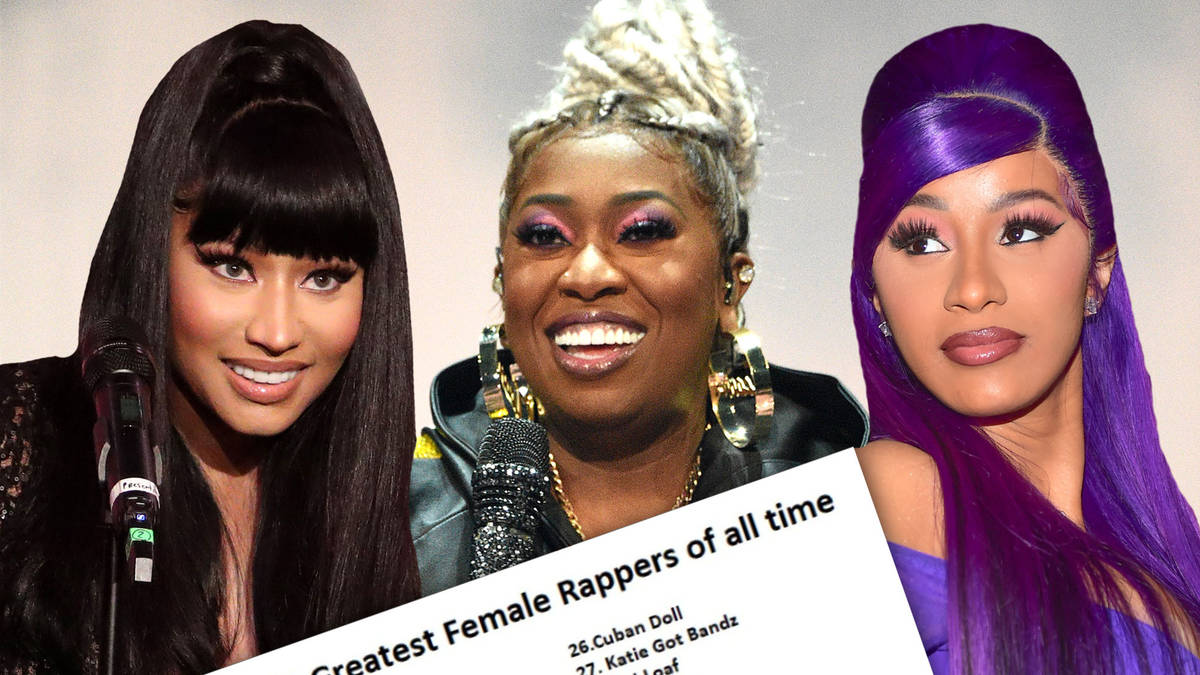 A viral 'top 50 greatest female rappers' list has sparked debate among hip-hop fans