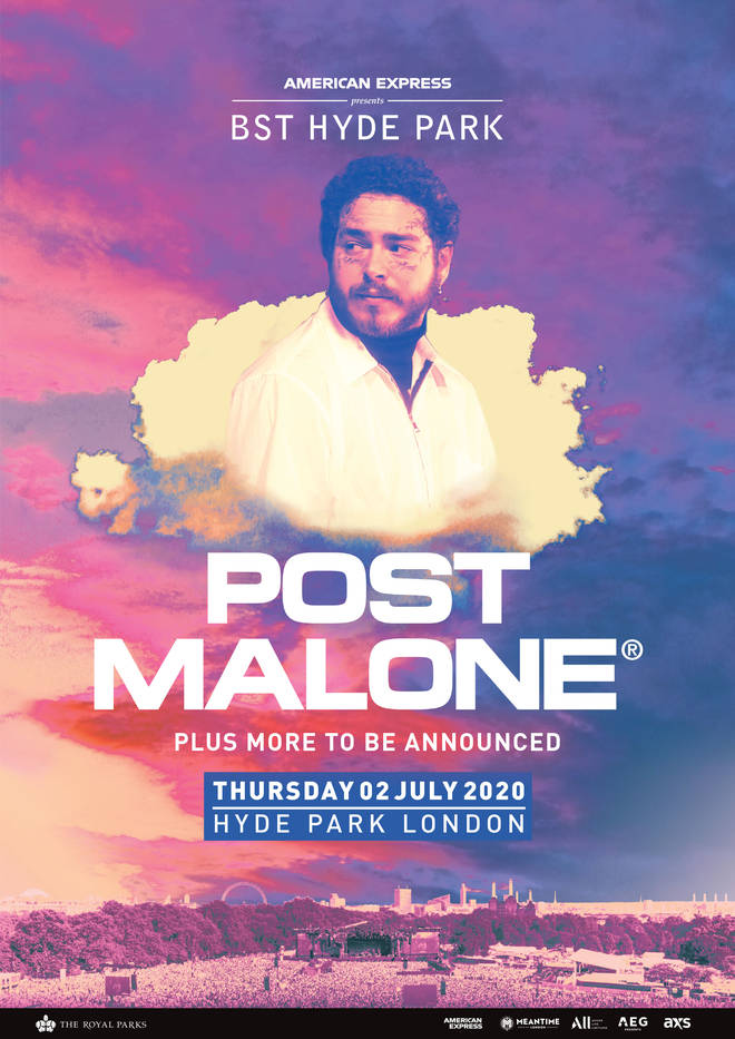 Post Malone has been announced as the Thursday headliner at American Express presents BST Hyde Park.