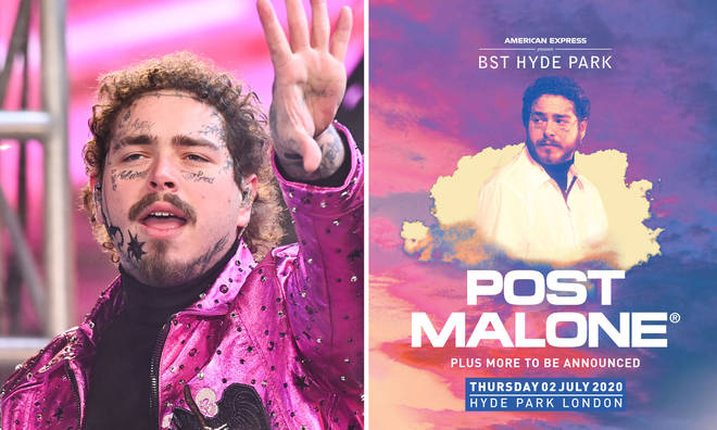 Post Malone is set to headline American Express presents British Summer Time at Hyde Park 2020 in July.