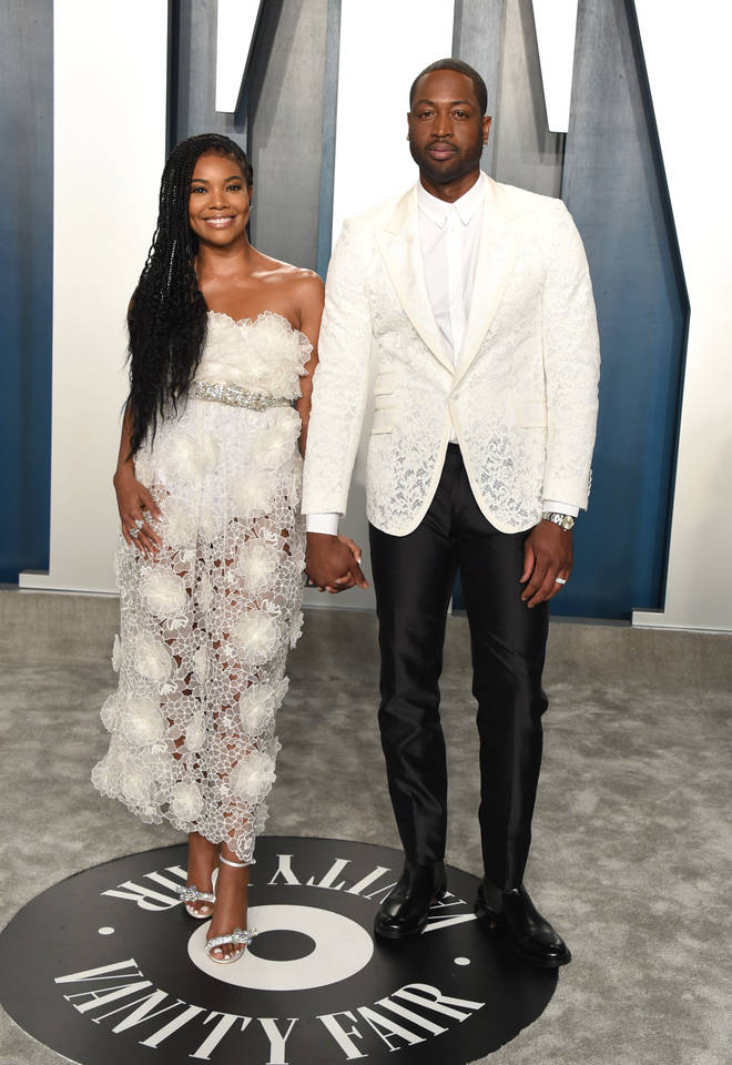 Wade and Union married in 2014 and welcomed their daughter Kaavia via surrogate in November 2018. (Pictured here in Feb 2020.)