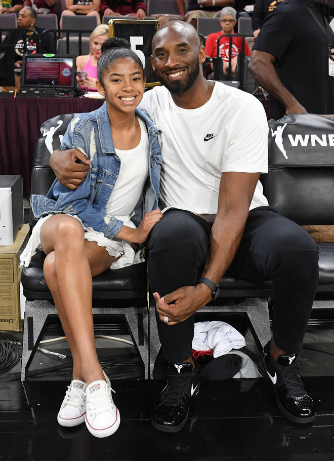 Kobe Bryant and his daughter Gianna attended the WNBA All-Star Game in 2019