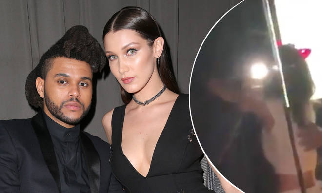 Recording artist The Weeknd (L) and model Bella Hadid attend the Republic Records Grammy Celebration presented by Chromecast Audio at Hyde Sunset Kitchen & Cocktail on February 15, 2016 in Los Angeles, California.