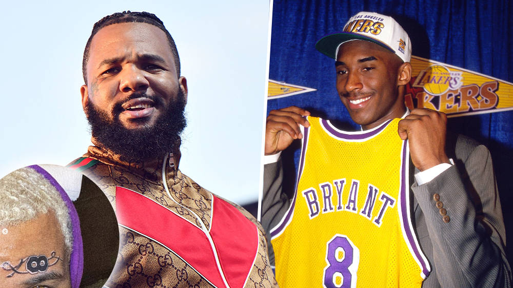 The Game honours Kobe Bryant with 'infinity' Lakers jersey number face tattoo