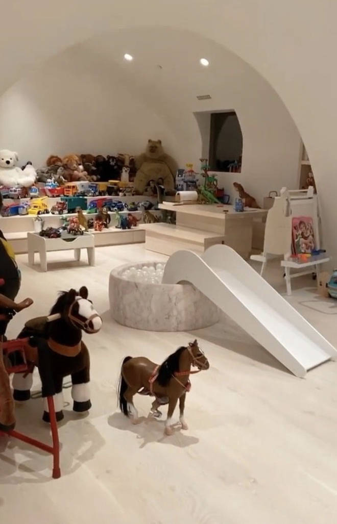 Kim Kardashian shares a video of her kids playroom
