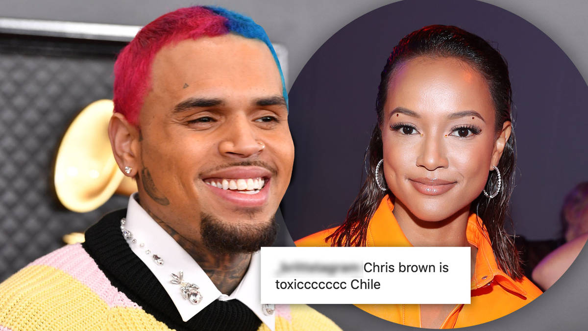 """Chris Brown labelled """"obsessed"""" after posting old video of ex Karrueche Tran on Valentine's Day"""