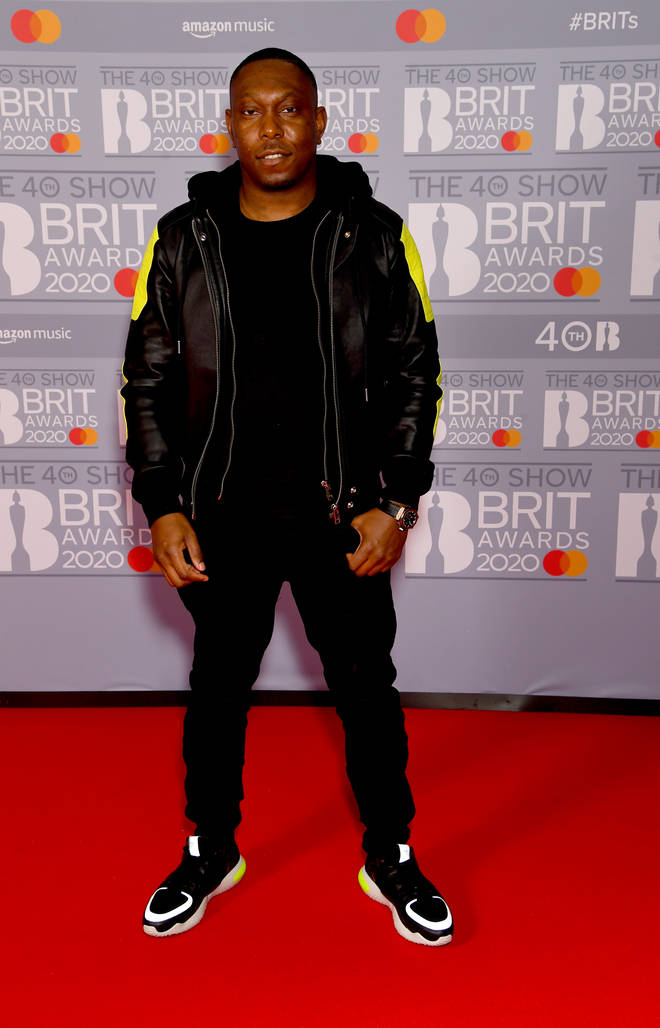 Dizzee Rascal looked slick in a leather jacket.