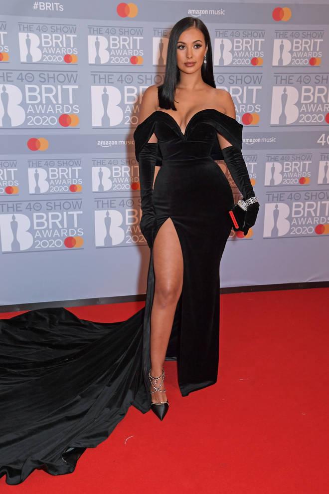 Maya Jama looked incredible in a figure-hugging black dress.