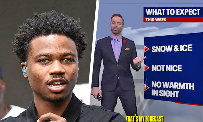 Weatherman performs Roddy Ricch parody during live forecast