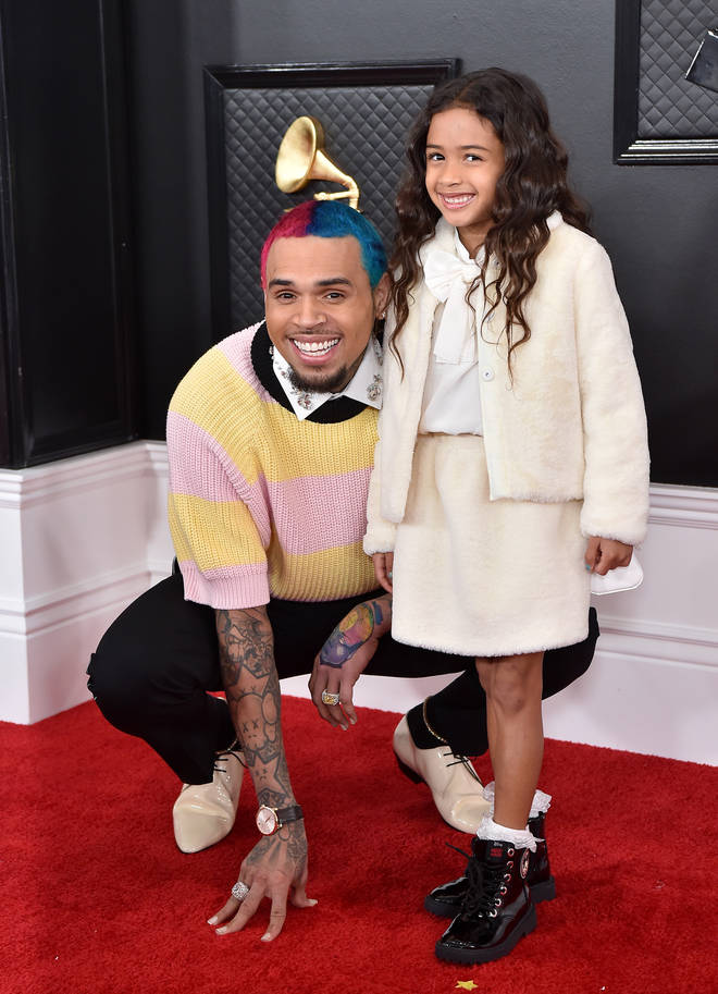 Chris Brown brought his daughter Royalty to the 62nd Annual Grammy Awards.
