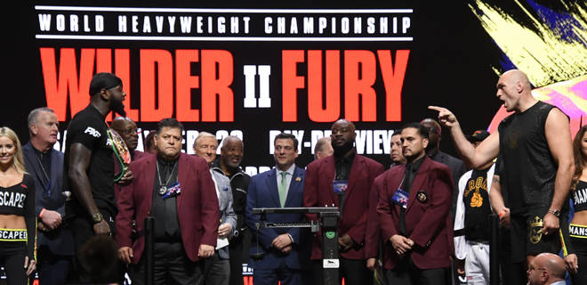 Deontay Wilder v Tyson Fury fight in Las Vegas on 22nd February