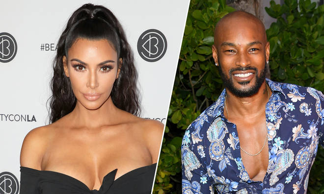 Kim Kardashian and Tyson Beckford.