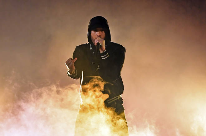 Eminem's heating up social media with his viral #GodzillaChallenge