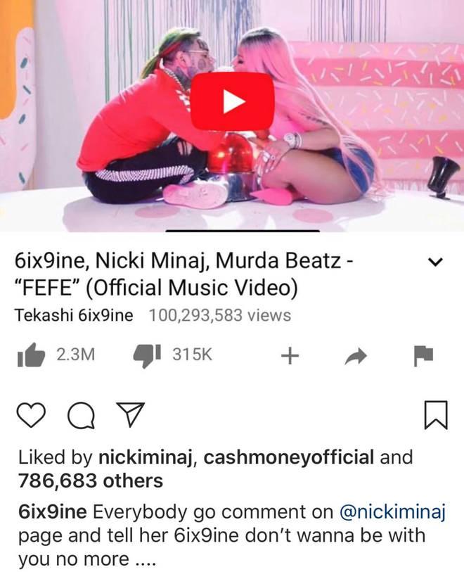 Tekashi 6ix9ine Responding To Drake and Nicki Minaj